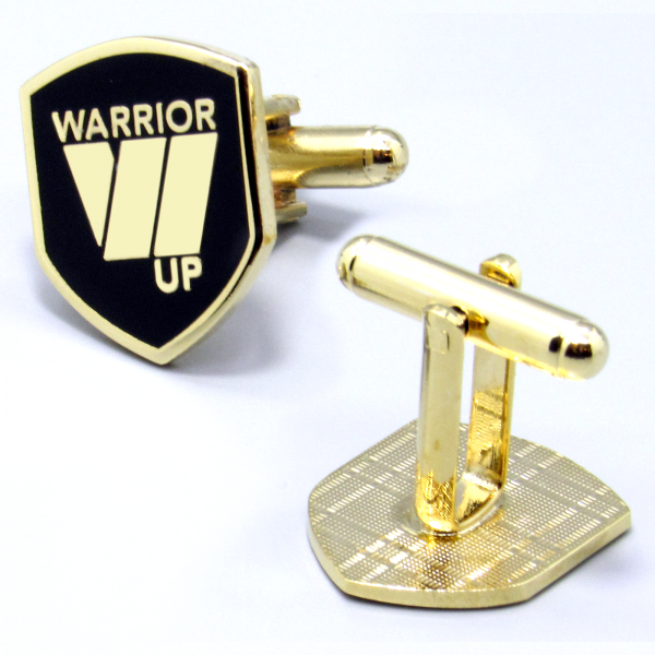 Warrior Up Cufflinks - Gold