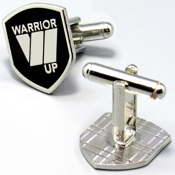 Warrior Up Cufflinks - Silver