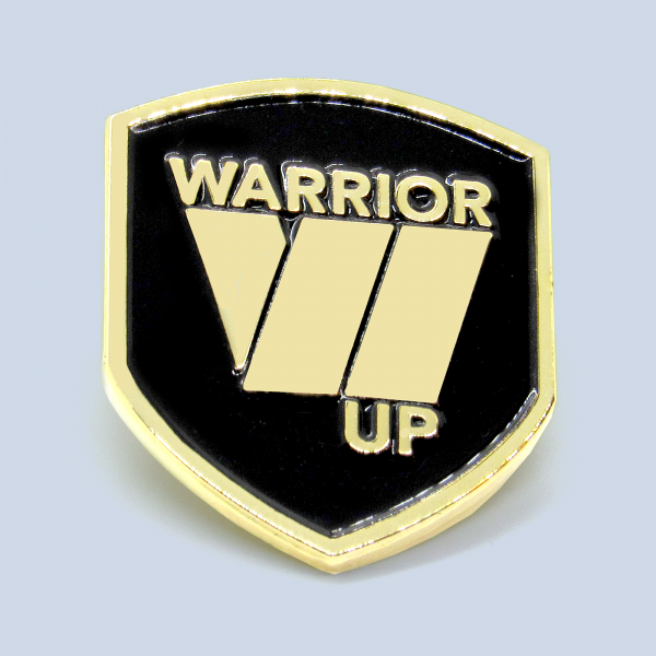 Warrior Up Lapel Pin - Gold